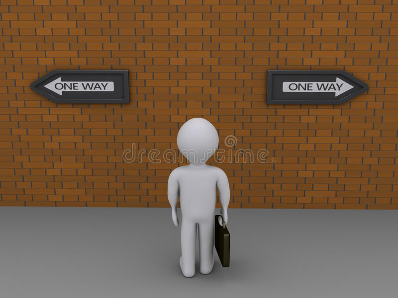 Download Businessman Has Two Options Stock Illustration - Image: 31071397