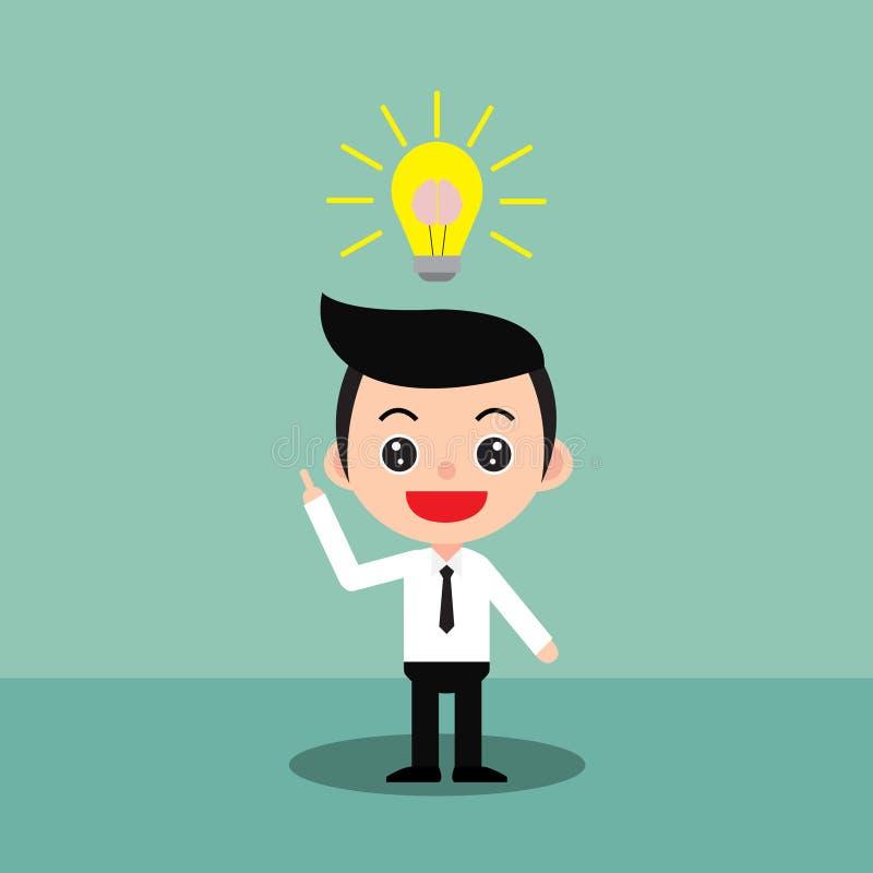 Businessman having a good idea. vector illustration