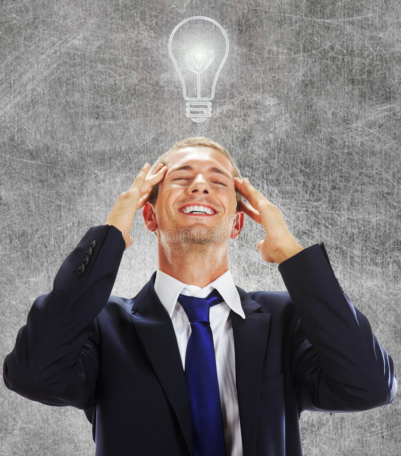 Download Businessman having an idea stock image. Image of isolated - 26603363
