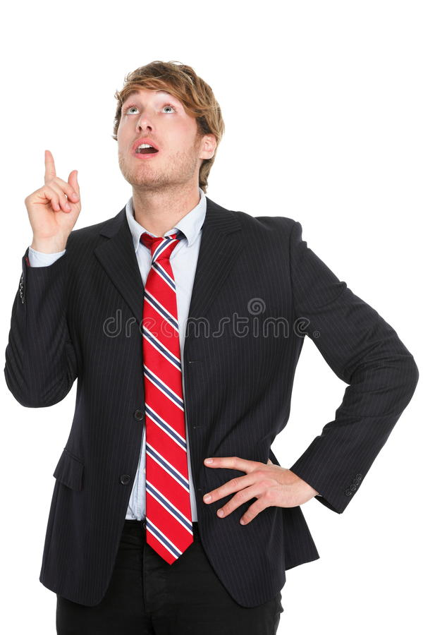 Download Businessman Having An Idea Pointing Up Stock Image - Image: 22949217