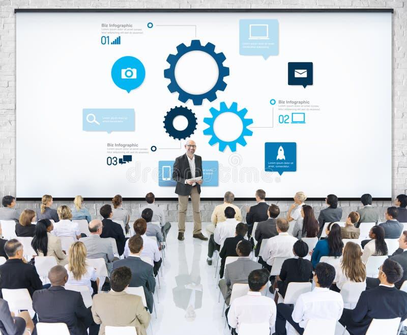 Businessman Having a Presentation About Teamwork stock images