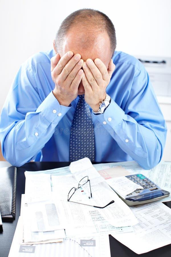 Download Businessman having stress stock photo. Image of principal - 17282394