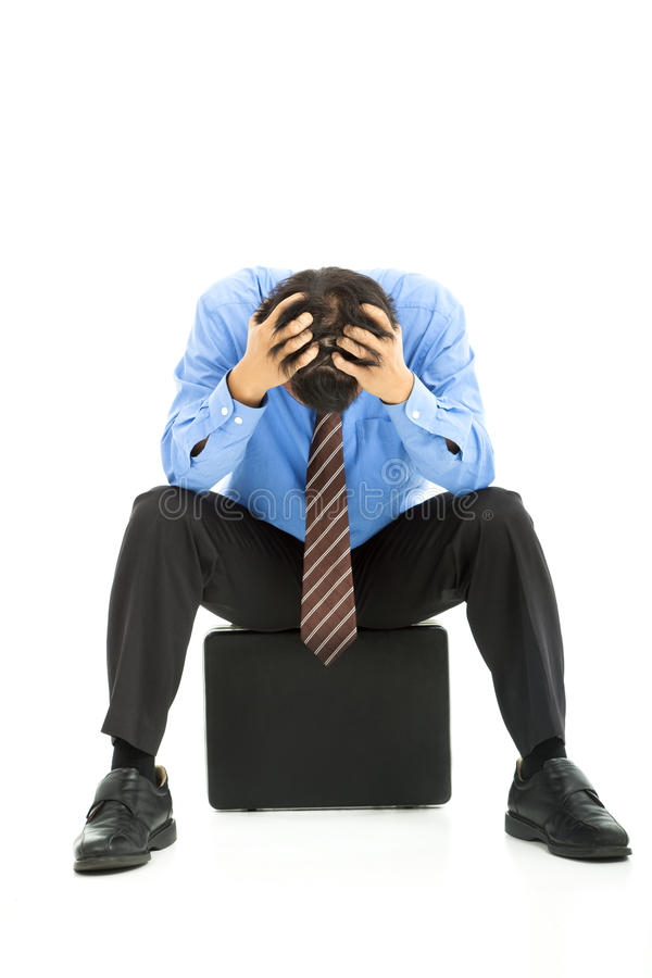 Download Businessman with headache stock image. Image of pressure - 25235579
