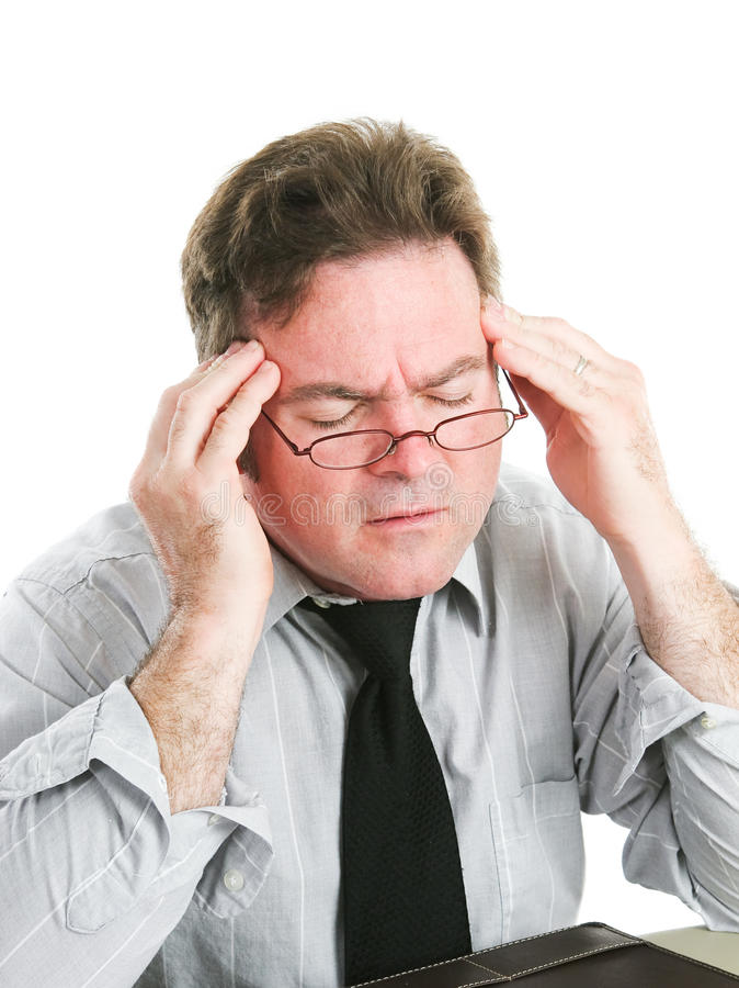 Businessman with Headache royalty free stock image