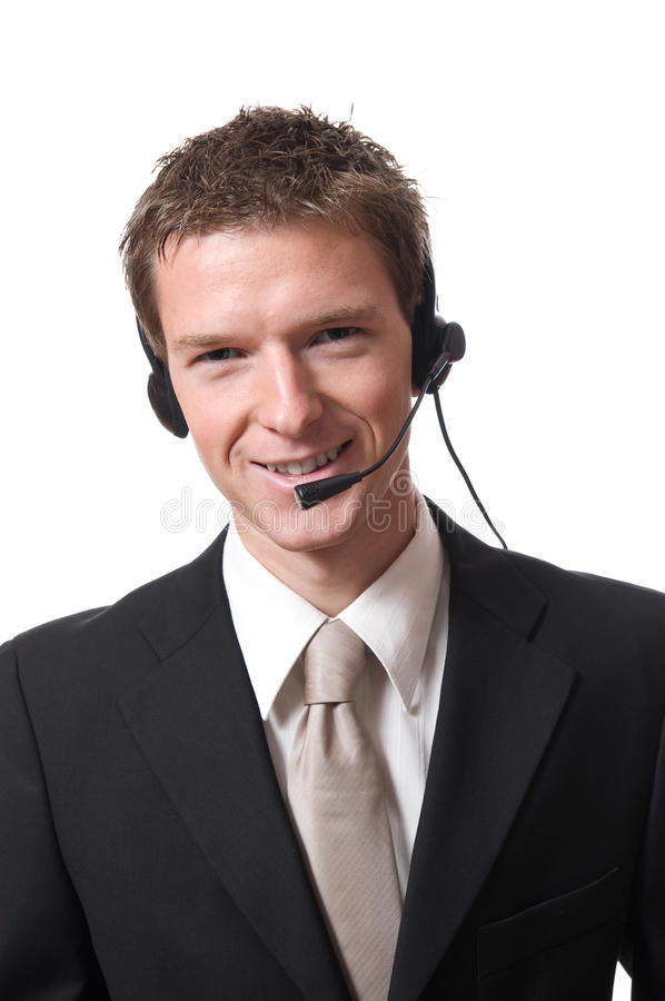 Businessman With Headset Stock Photos
