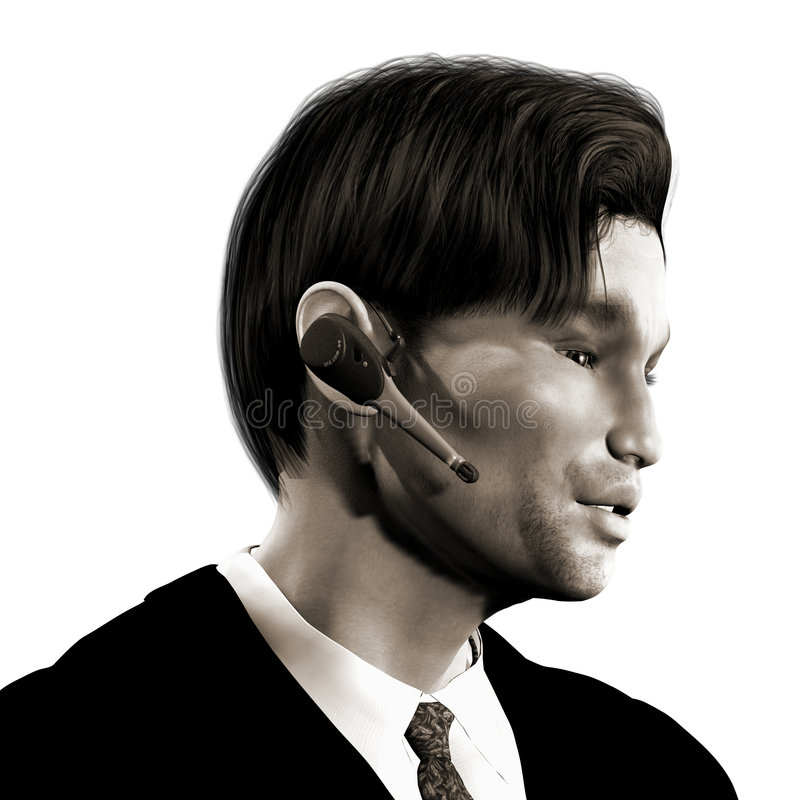 Download Businessman with headset stock illustration. Image of executive - 2073295