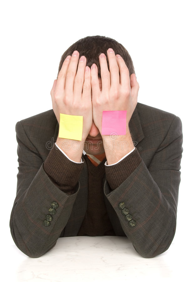 Download Businessman hiding stock photo. Image of male, representative - 7610416