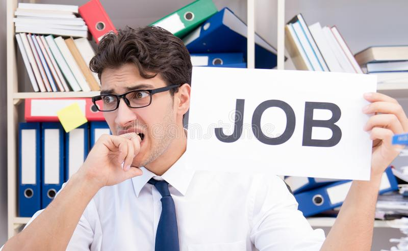 Businessman hiring new employees to cope with increased workload. The businessman hiring new employees to cope with increased workload royalty free stock images