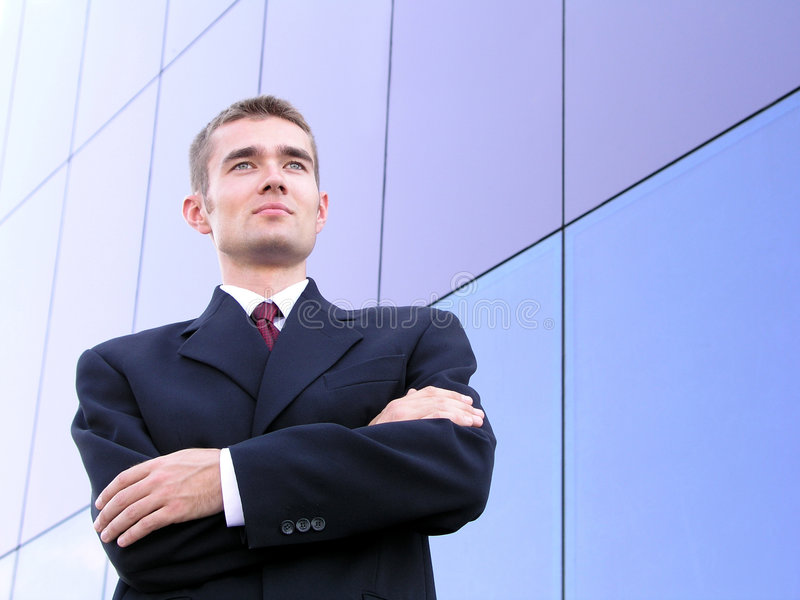 Businessman With His Arms Crossed royalty free stock photos