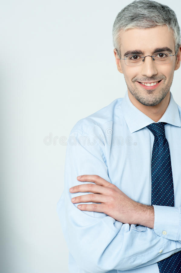 Download Businessman With His Arms Crossed Stock Image - Image of elegant, associate: 38710915