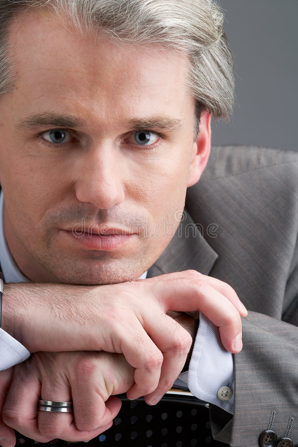 Download Businessman with his hands stock image. Image of administrator - 2483389