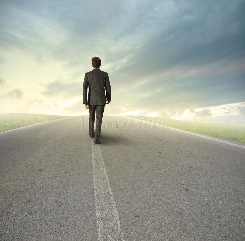 Download Businessman on his way stock photo. Image of confront - 25989918
