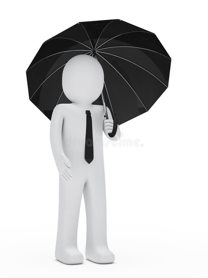 Download Businessman Hold Black Umbrella Stock Photography - Image: 24782812