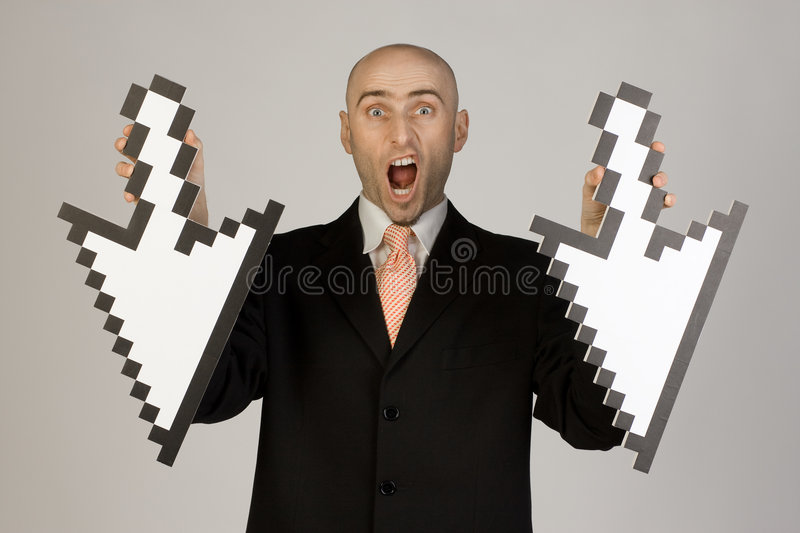 Download Businessman holding arrows stock image. Image of arrow - 4329721
