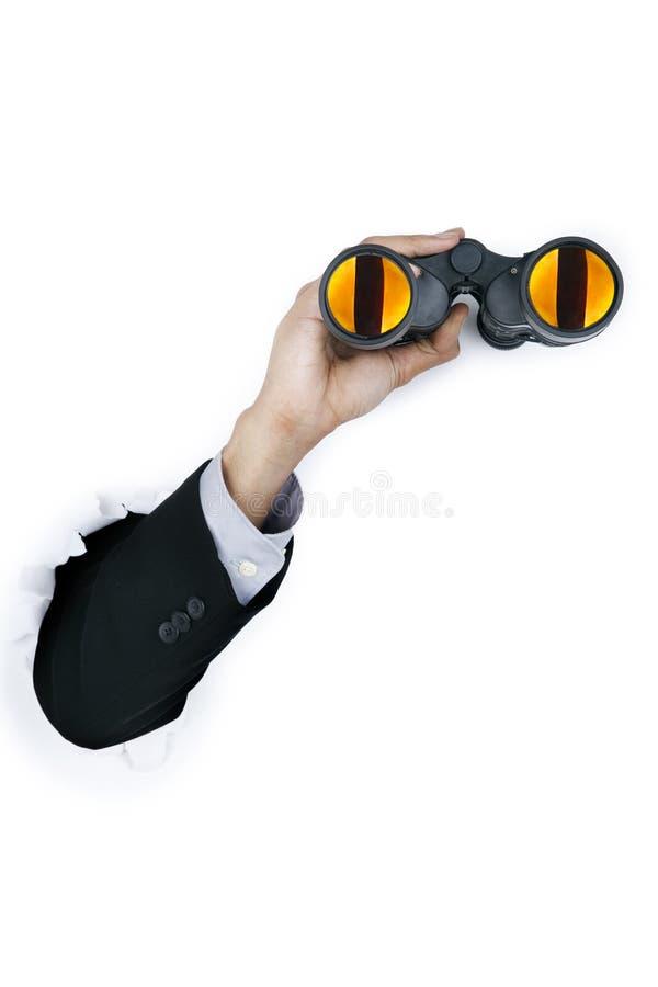 Download Businessman Holding A Binocular Stock Photo - Image: 23446020