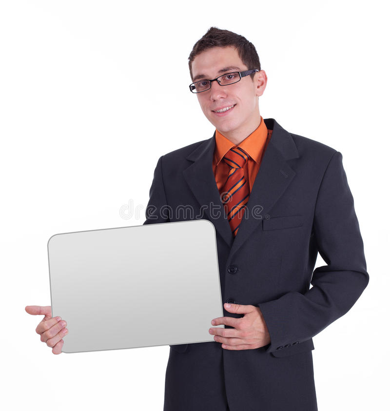 Download Businessman Holding Blank Card Stock Image - Image: 15256067