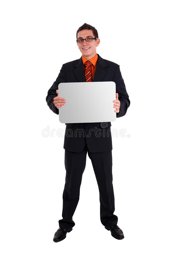 Download Businessman Holding Blank Card Stock Photo - Image: 15481306