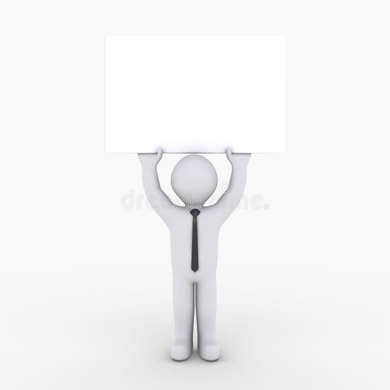 Download Businessman Holding Blank Sign High Stock Illustration - Illustration: 25081764