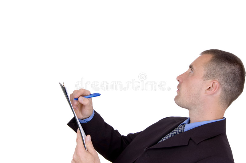 Download Businessman Holding Clipboard Stock Photo - Image: 1402908