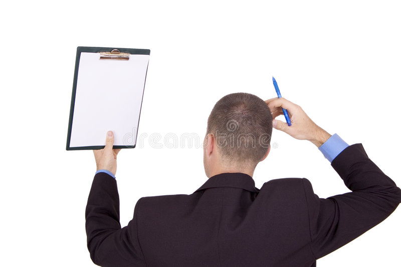 Download Businessman Holding Clipboard Stock Photo - Image: 1402946