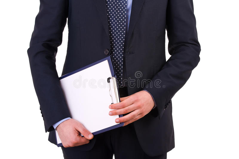 Download Businessman Holding A Clipboard. Stock Image - Image: 30321151