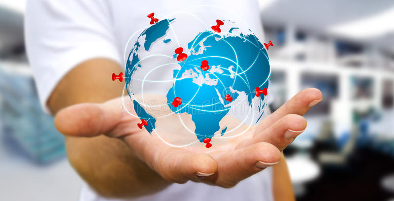 Businessman holding digital world map in his hands stock photo download businessman holding digital world map in his hands stock photo image 65503614 gumiabroncs Images