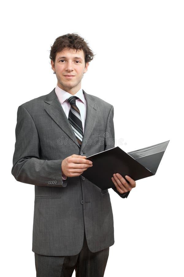 Download Businessman holding folder stock image. Image of color - 9248207