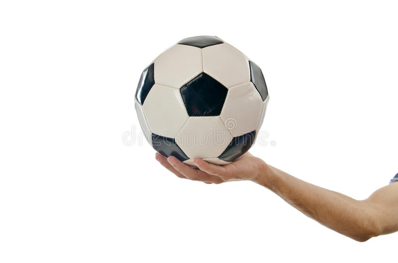 Download Businessman Holding Football Royalty Free Stock Photos - Image: 23260248