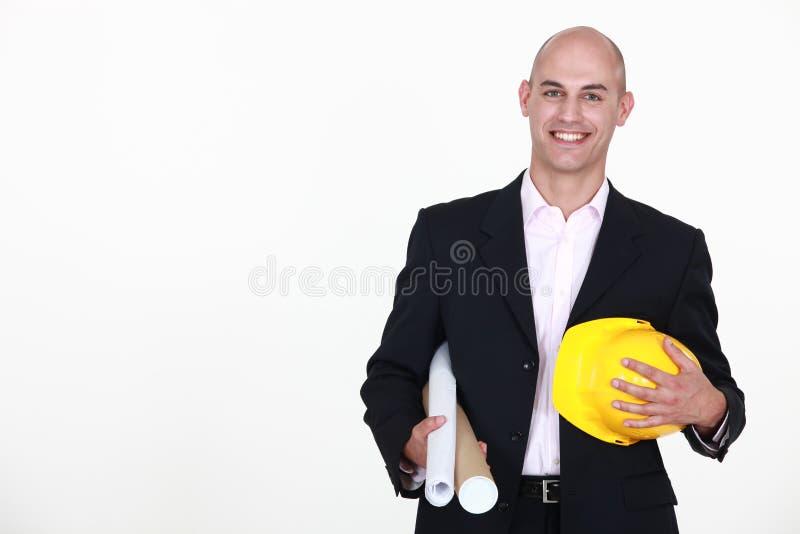 Download Businessman Holding A Helmet Stock Photo - Image: 30483782