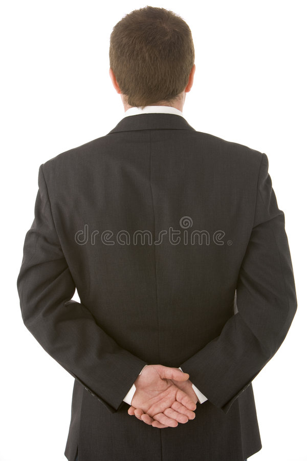 Technology Management Image: Businessman Holding His Hands Behind His Back Stock Image