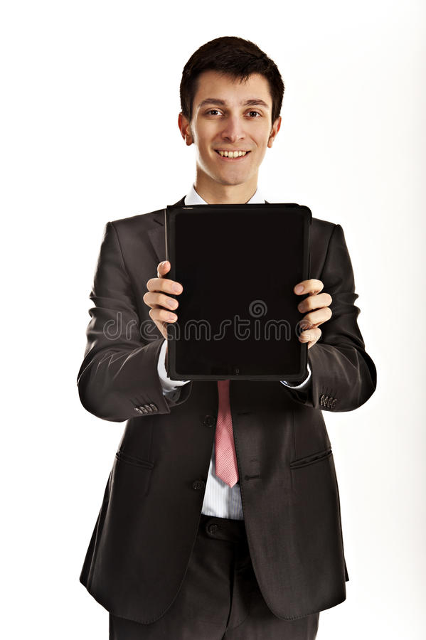Download Businessman holding iPad editorial photography. Image of businessman - 20242142