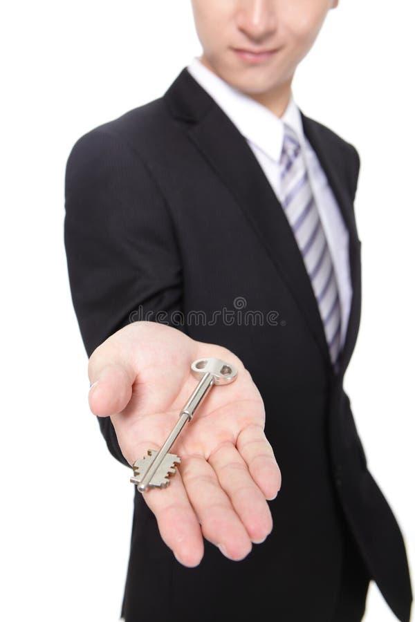 Download Businessman Holding Keys Stock Image - Image: 31142241