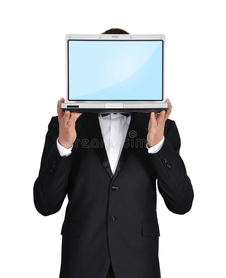 Download Businessman Holding A Laptop Stock Photo - Image: 31863898