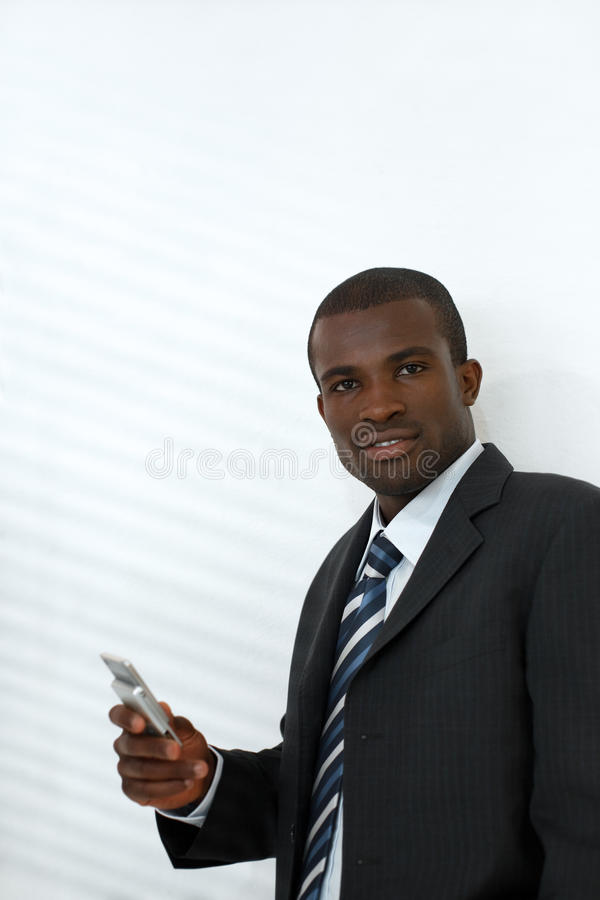 Businessman Holding Mobile Phone Royalty Free Stock Photos