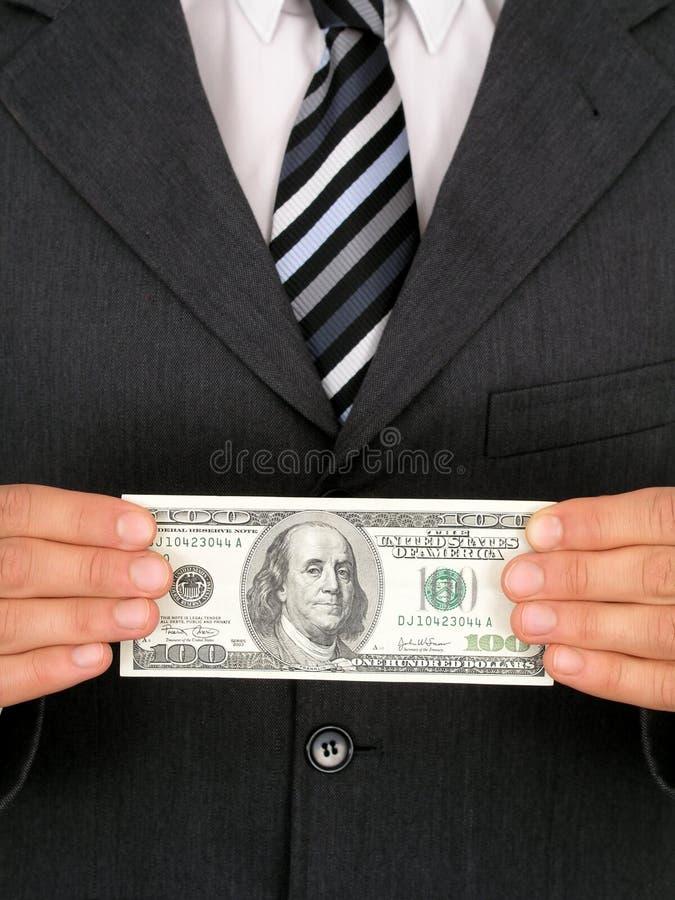 Businessman Holding Money Royalty Free Stock Photos