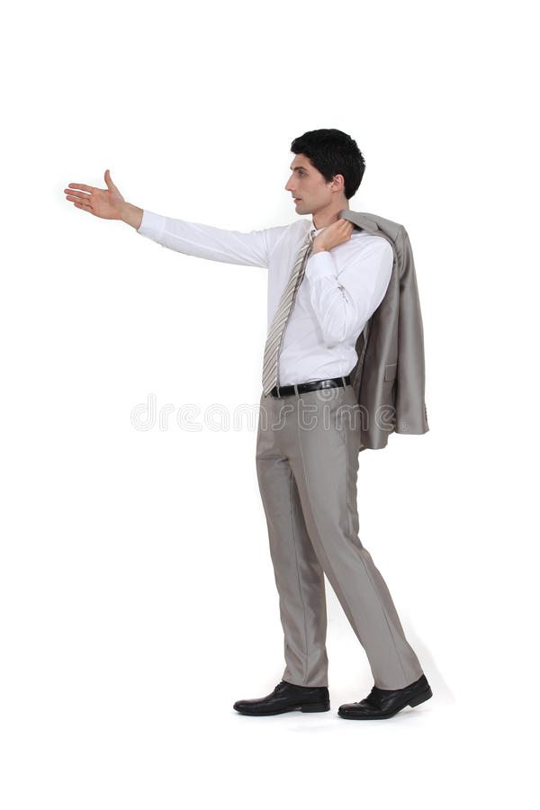 Download Businessman Holding Out Arm Stock Image - Image: 30483943