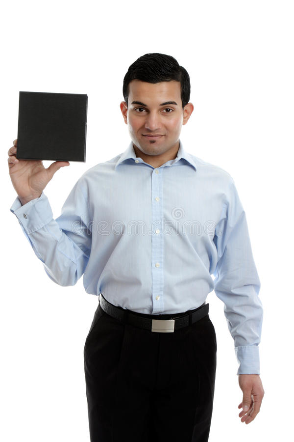 Download Businessman Holding A Product Stock Image - Image: 24206519