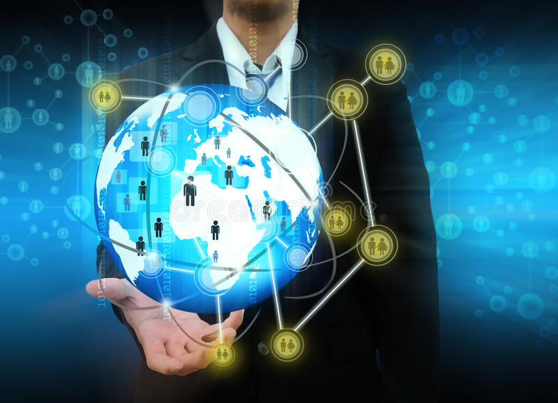 Download Businessman Holding Social Network Stock Photo - Image of icon, professional: 39511392