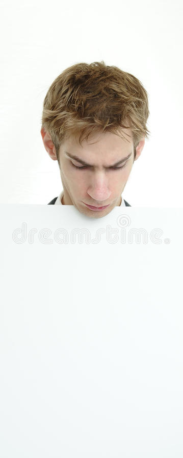 Download Businessman Holding White Sign Stock Image - Image: 16323629
