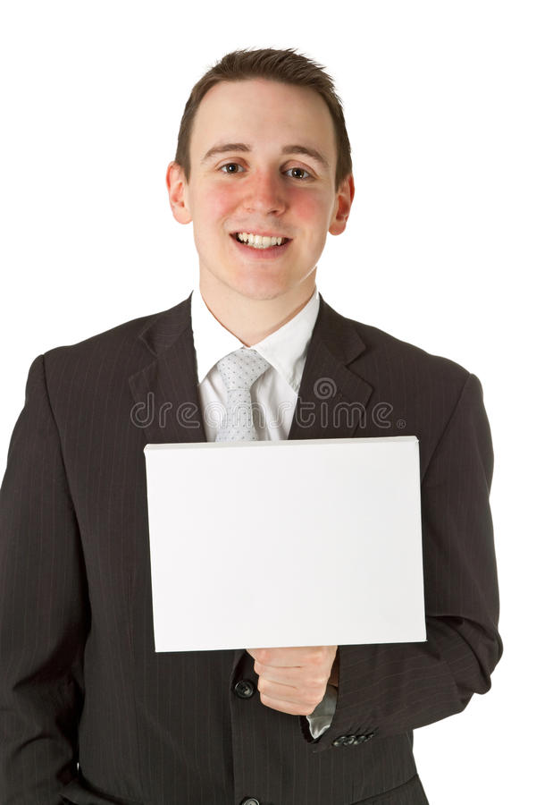 Download Businessman Holding A Whiteboard Stock Image - Image: 23351247