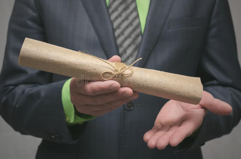 Conclusion of a business contract. Business deal concept. Signing of an agreement. stock photo