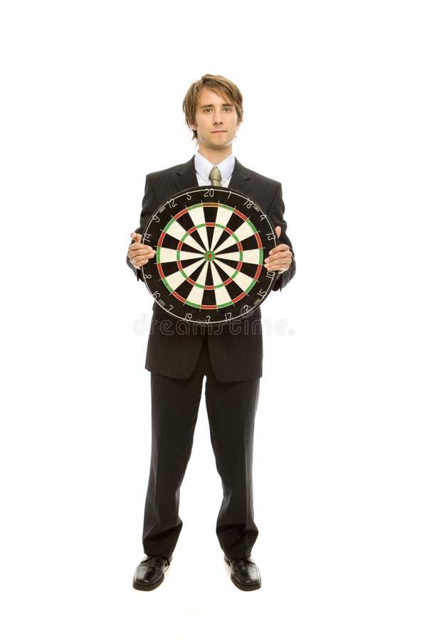 Businessman Holds Target Stock Image