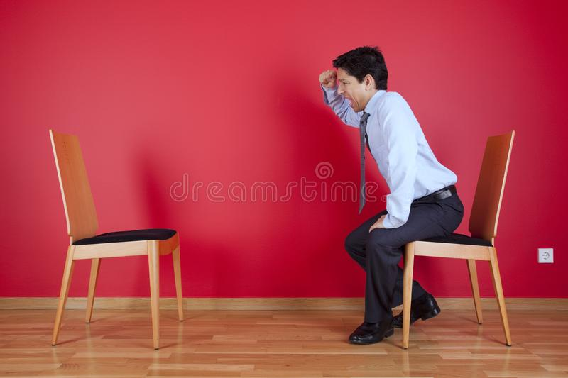 Businessman angry stock images