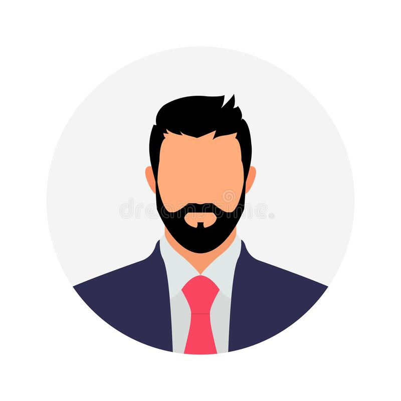 Businessman Icon Image, Male Avatar Profile Vector With Glasses And Beard Hairstyle Stock Vector - Illustration of avatar, male: 179728610