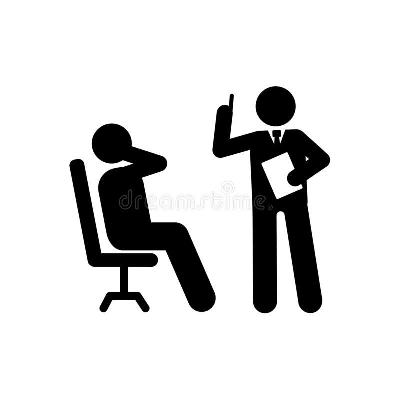 Businessman, idea, explain, office icon. Element of businessman pictogram icon. Premium quality graphic design icon. Signs and. Symbols collection icon on white vector illustration