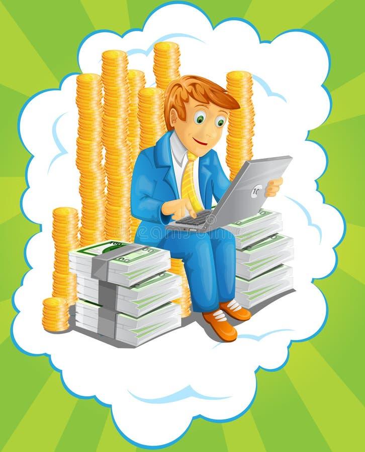 Businessman Illustration stock photos