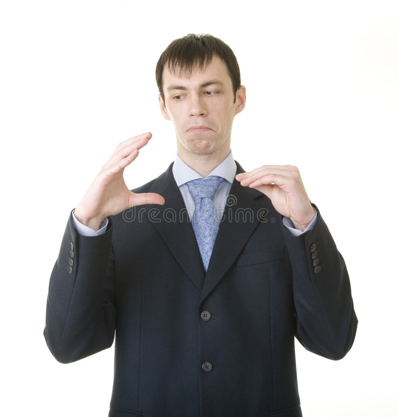 Download Businessman Imitating His Talk With Boss Stock Image - Image: 8024053