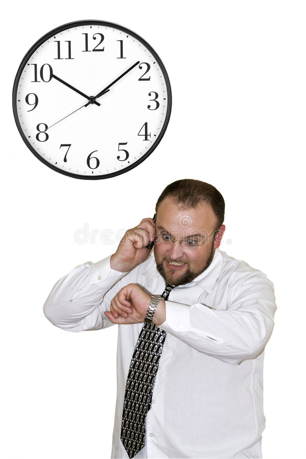 Free Businessman In A Hurry Stock Photo - 5887140