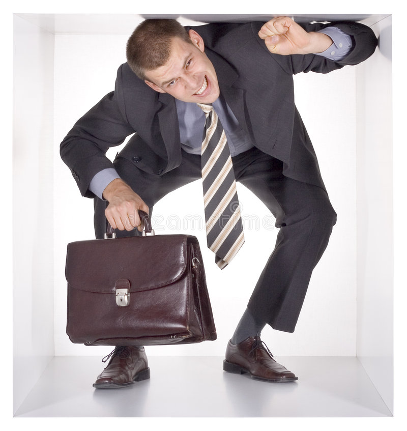 Free Businessman In The Cube Stock Photos - 1434823