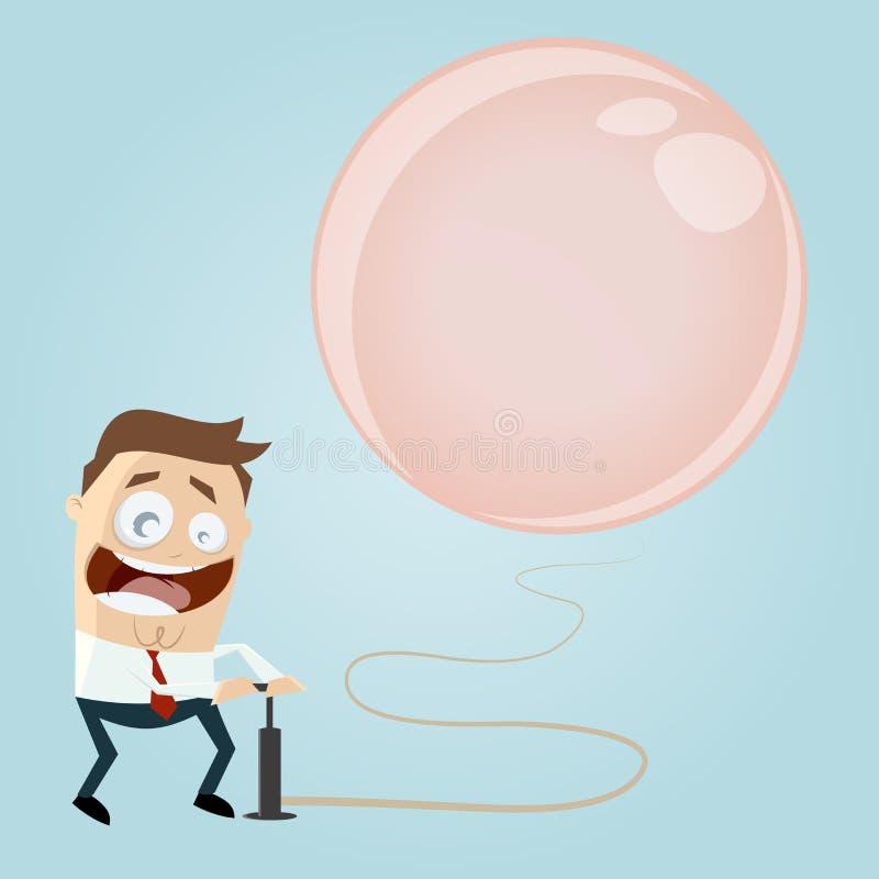 Free Businessman Inflating A Big Balloon Stock Photo - 38977080